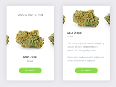 Cannabis App layout interface clean ui mobile sketch simple