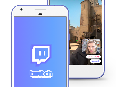 Twitch Redesign vector app sketch iphone ui mobile ios clean brand