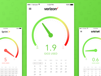 Verizon App (Concept) simple sketch mobile iphone ios flat ux branding app vector ui design