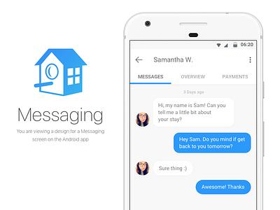 Messaging Concept vector mobile ios clean design sketch ui