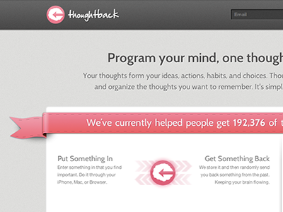Thoughtback Homepage website design