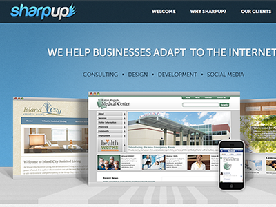 Sharpup Homepage website design