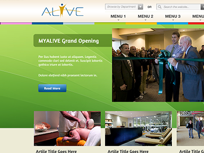 Web Design for Client website design color homepage alive