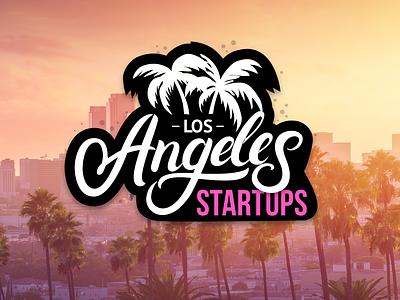 LA Startups web vector clean mobile branding logo website typography illustration design