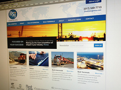 Logistics Website website design