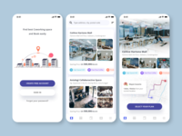 App concept for Finding Coworking Space