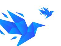 Logo Origami Bird Dribbble