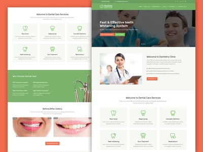 Dentistry Dental Clinic Responsive Website Template