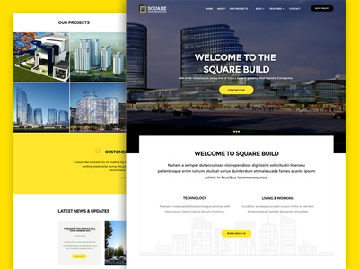 Square a Building Construction Website Template