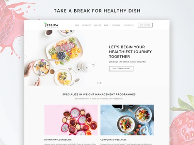 Jessica a Nutritionist Dietician Website Template