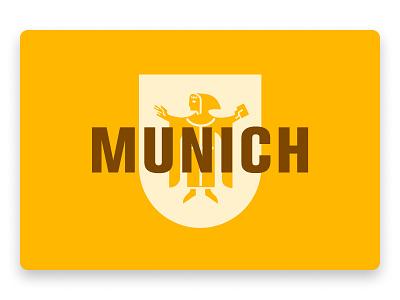 Munich yellow illustration coat of arms munich