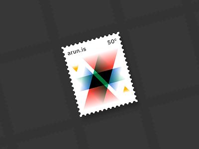 arun.is newsletter 002 triangles gradients modernist stamp illustration