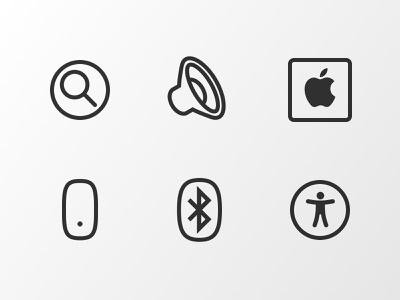 WIP speaker accessibility apple watch bluetooth mouse spotlight apple icons