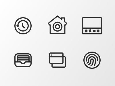 WIP wallet windows touchid security time machine home preferences illustration