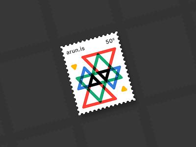 arun.is newsletter 003 overprint modernist swiss lineart tilted stamp line illustration