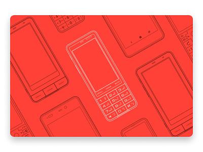 INFOBAR · Japan's Iconic Mobile Phone art lineart line illustration smartphone mobile japan project design au infobar phone