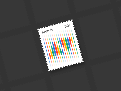 arun.is newsletter 005 stamps stamp rainbows stripes stripe colors illustration lines icon