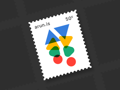 arun.is newsletter 006 rounded blobs graphicdesign stamp overprint modernist mid century shapes organic