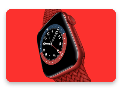 The iconic watches that inspired Apple Watch faces red perspective angled apple watch mockup transitions video svg apple watch apple animation illustration