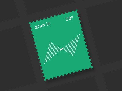 arun.is newsletter 011 postage stamp sound waves green postage icons geometric