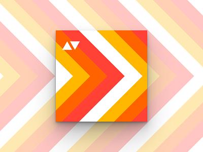 movement triangles geometric orange hot modernist chevrons album cover album art