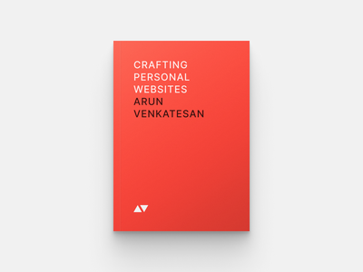 Crafting Personal Websites book covers book cover design arun.is arun venkatesan red websites book cover