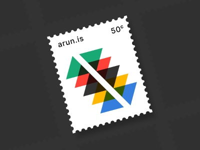 arun.is newsletter 017 multiply overprint colors rainbow triangles geometric arun.is stamp