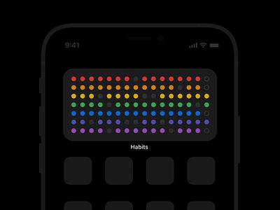 habit streak tracker streaks rainbow colors dots ios app ios widget habits