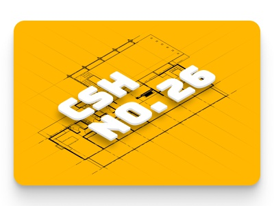 Visiting the Bay Area's only Case Study House blueprint modernism modernist case study house typography floating 3d text architecture yellow map isometric illustration
