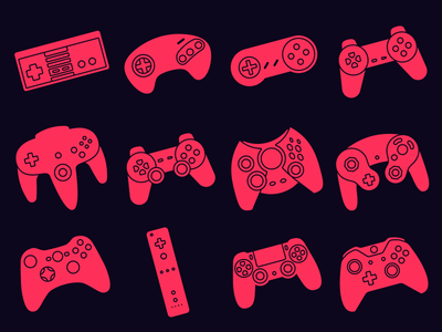 Game Controllers wii gamecube xbox n64 playstation sega nintendo nes game controllers controllers games video game