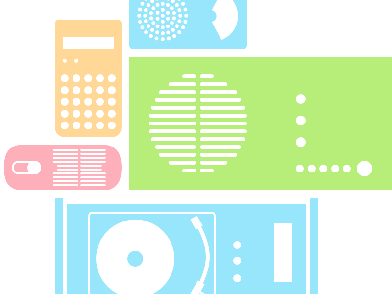 braun icon exploration illustration icons pastel radio icon braun
