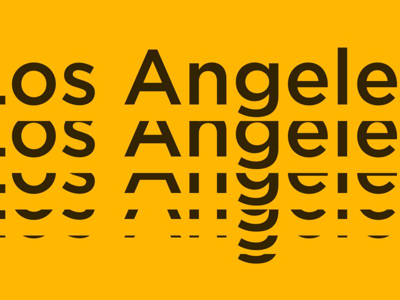 Weekend in LA black yellow typography city la los angeles