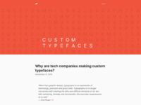 Www.arun.is blog custom typefaces