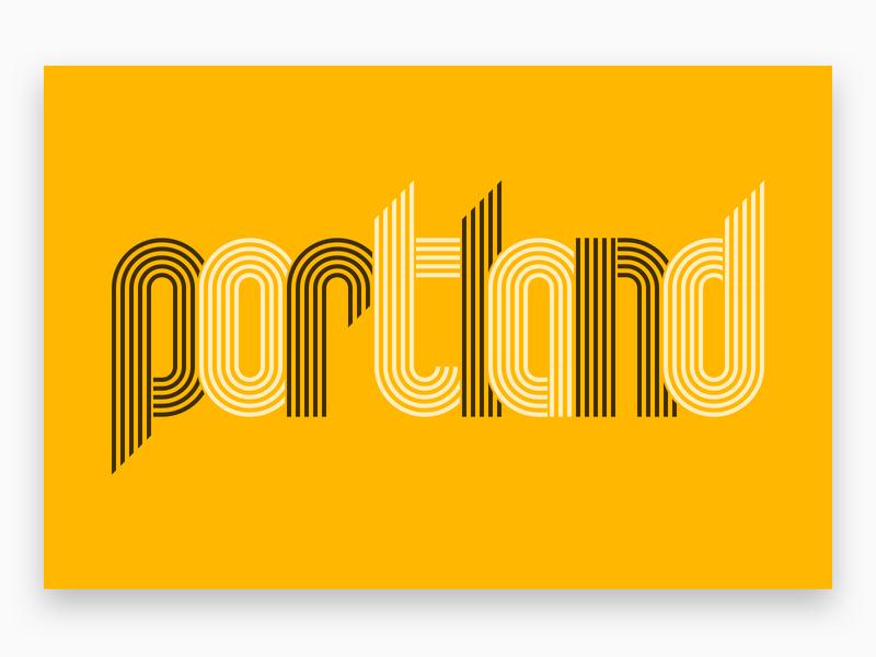Shot on Leica Q: Portland line art illustration typography trailblazers portland