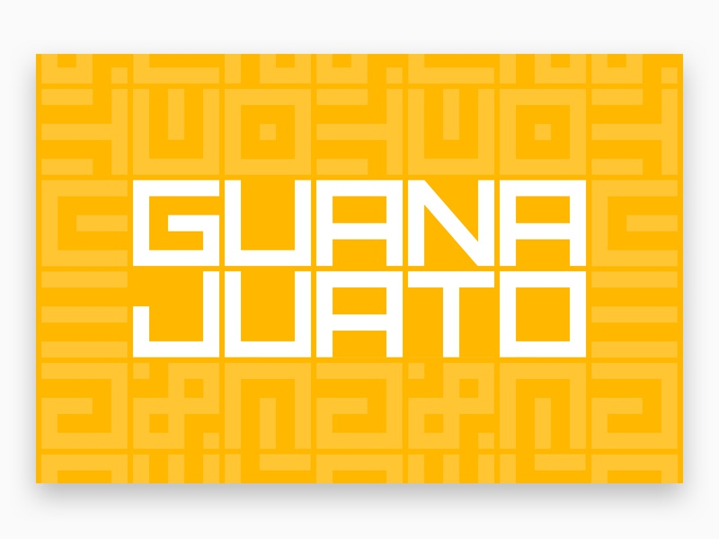 Charming Guanajuato, Mexico repeating pattern tribal aztec geometric guanajuato mexico typography illustration