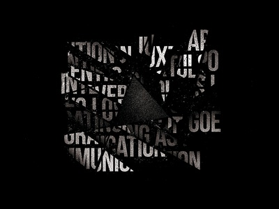 Humanity / Cuts typography texture poster abstract graphic dark noise dotwork