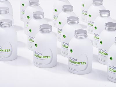 Good Eggwhites —Package liquid food health protein egg sport fitness branding bottle packaging