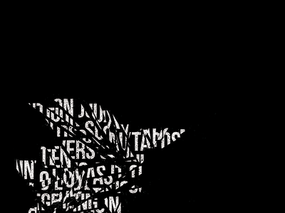 Humanity / Cuts dotwork noise dark graphic abstract poster texture typography