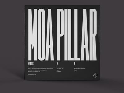 "Moa Pillar ""Hymns"" vinyl techno electronic type condensed typography lp cd cover music vinyl"