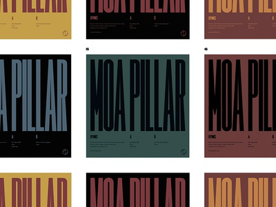 "Moa Pillar ""Hymns"" vinyl vinyl music cover cd lp typography condensed type electronic techno"