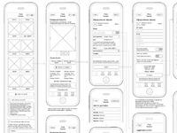 E-store mobile version wireframes
