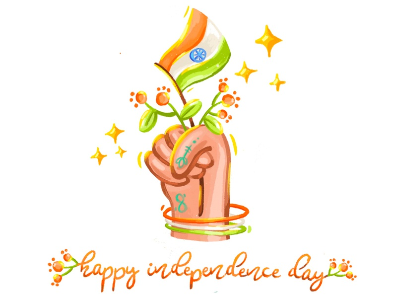 happy independence day culture flower colour vector web design nation hand icon celebration art graphic independenceday flag mumbai india illustration