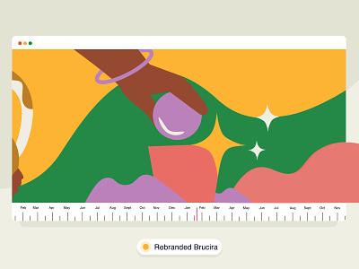 Rebranding✨ box colours brucira star hand app office mobile vector web ux design ui illustration