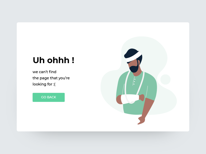 Error page web ux ui 404 mobile man interaction illustration icon design