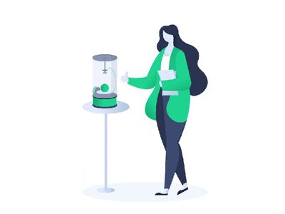 Upload File illustration girl web ui printer illustration files 3d