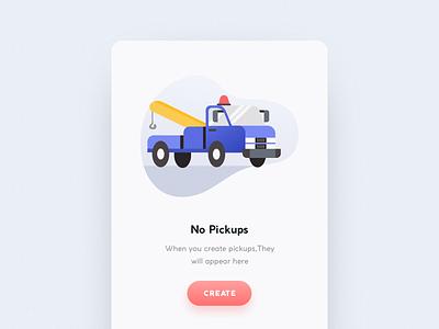 Empty State Illustration mobile not found error truck ui illustration