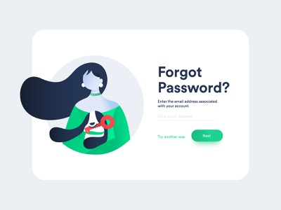 Forgot Password 01 typo mobile onboarding signin signup password minimal girl web design ux ui illustration