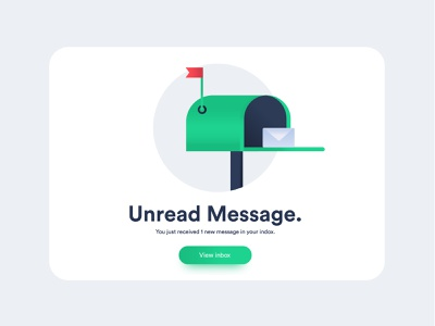 unread message message mail box mail card app mobile web ui ux design illustration