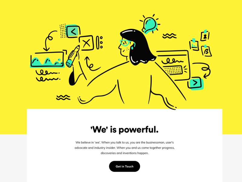 About Us Illustration fintech data mobile icon girl design ux ui illustration