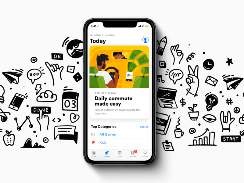 App of The Day featured app store web mobile icon girl design ux ui illustration